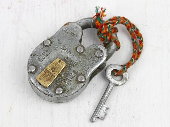 Small Old Iron Padlock Small