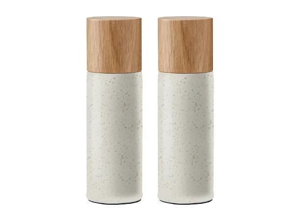 Bitz - Salt & Pepper Grinders Set - Matt Creme (11347)