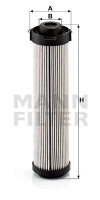 Suodatin, työhydrauliikka MANN-FILTER HD 419