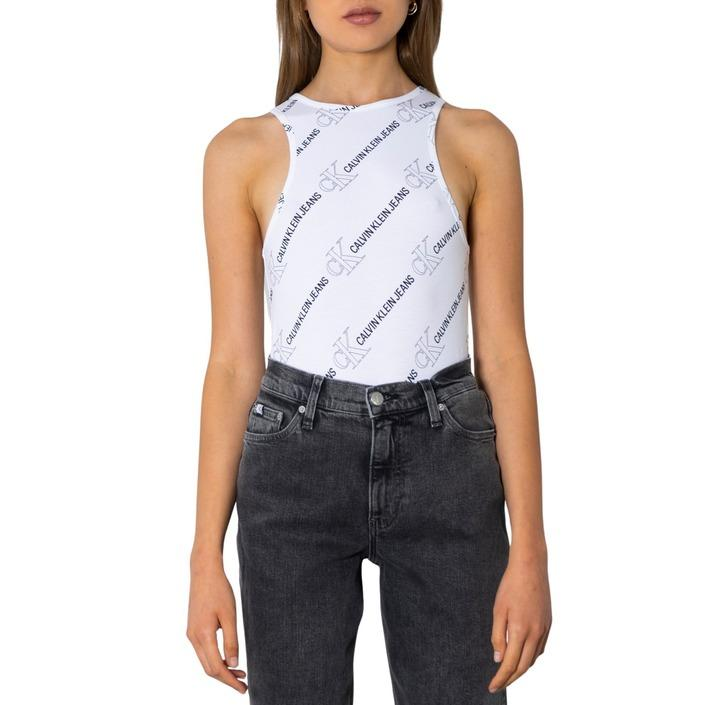 Calvin Klein Jeans Women's Tank Top White 299847 - white XS