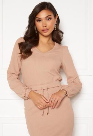 Happy Holly Emilia ls sleeve puff top Light beige 40/42