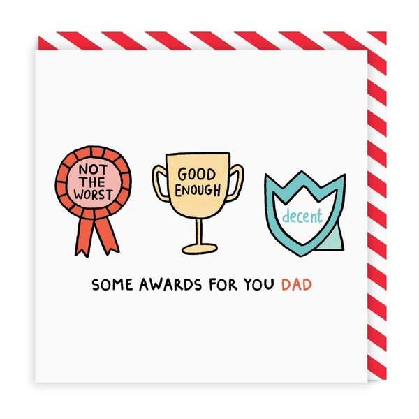 Dad Awards Square Greeting Card