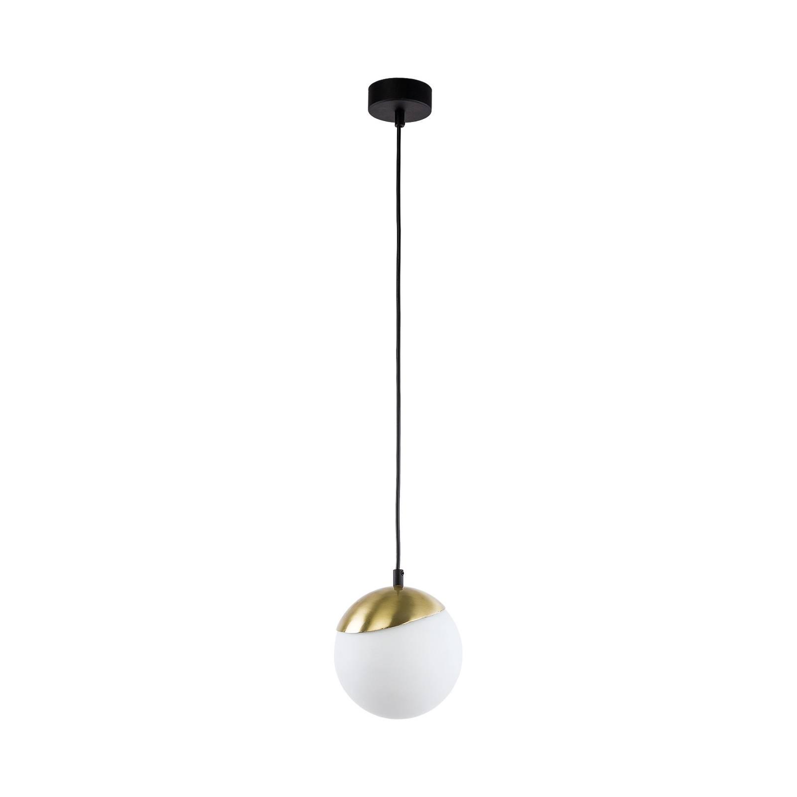 Riippuvalo Torbole, opaali/messinki, 1-lamppuinen