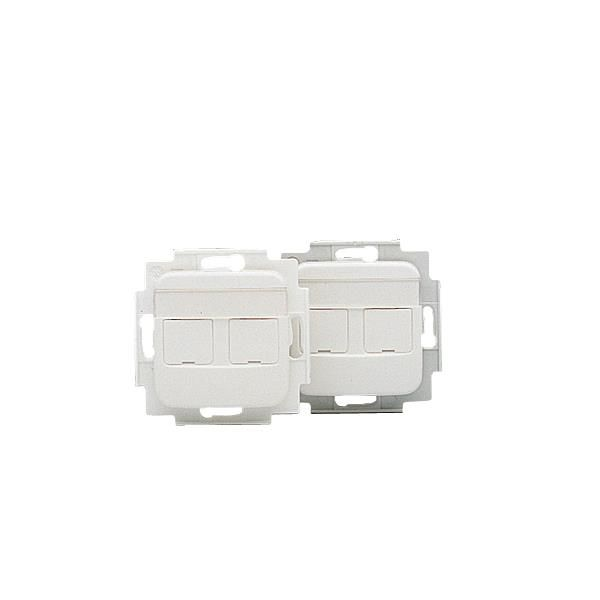 ABB FOT5000 Festeramme med midtplate 2 x RJ45, Keystone
