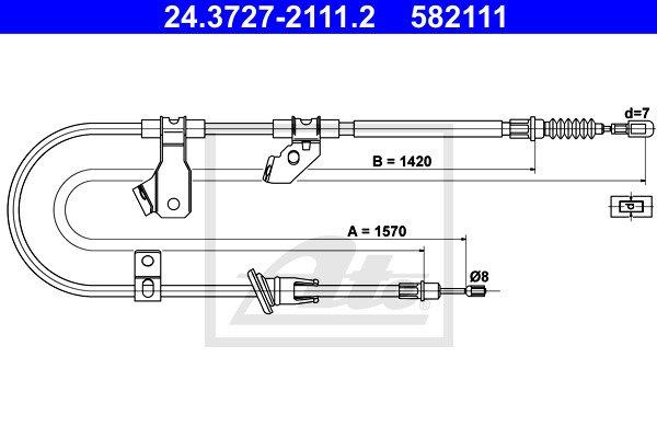 Käsijarruvaijeri ATE 24.3727-2111.2