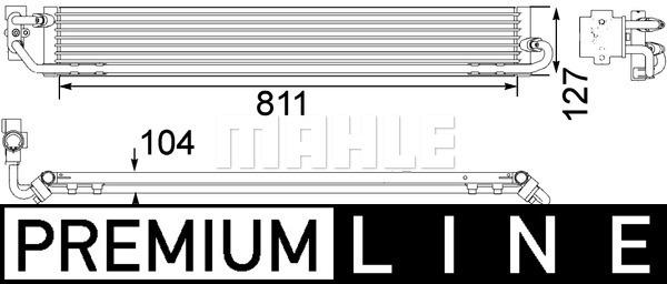 Öljynjäähdytin, autom. vaihteisto MAHLE ORIGINAL CLC 108 000P