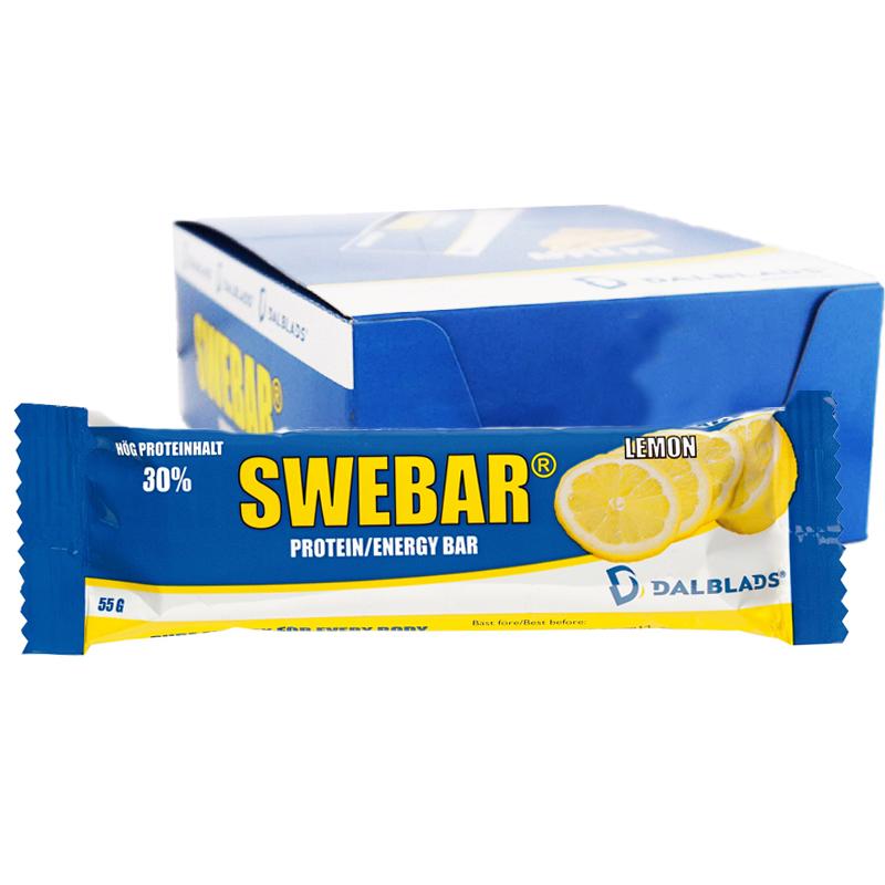 "Hel Låda Proteinbars ""Lemon"" 20 x 50g - 50% rabatt"