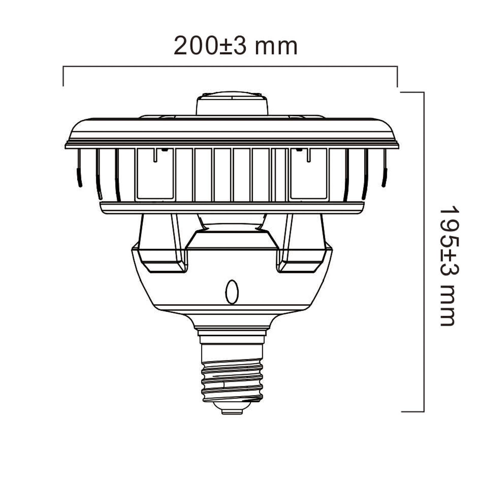 Sylvania-LED-lamppu E40 sis. PIR-anturin 80W 4000K