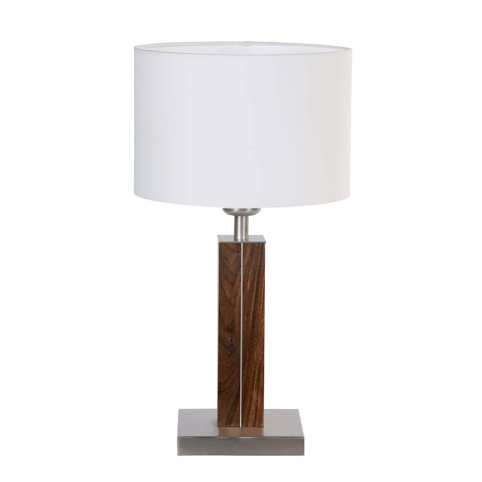 HerzBlut Dana bordlampe med trefot, valnøtt