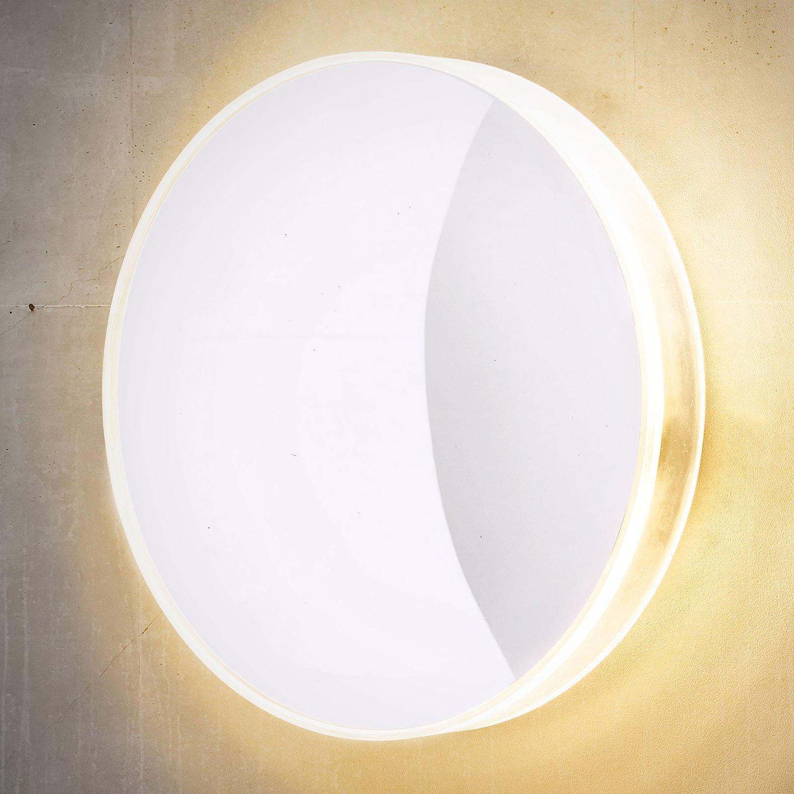 Utendørs LED-vegglampe Marbella, hvit