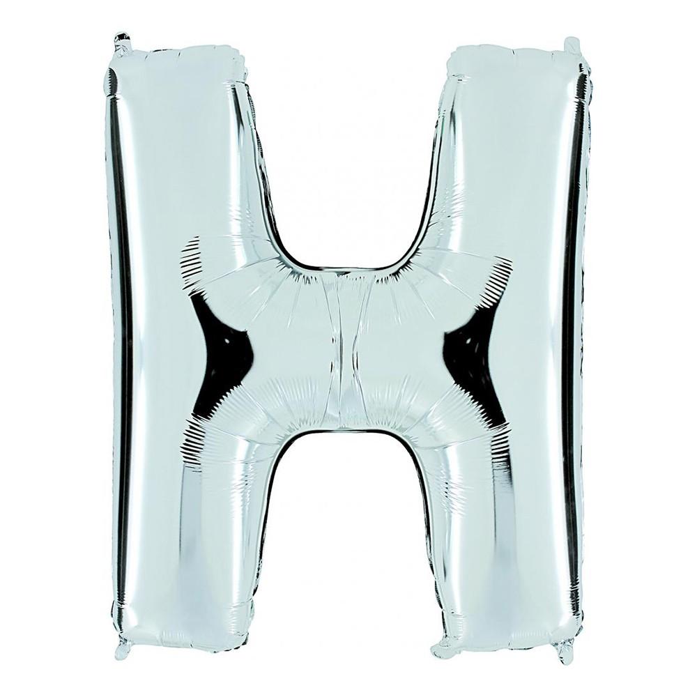 Bokstavsballong Silver - Bokstav H