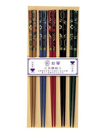Kutani Spisepinner 5 Par med Japansk dekor