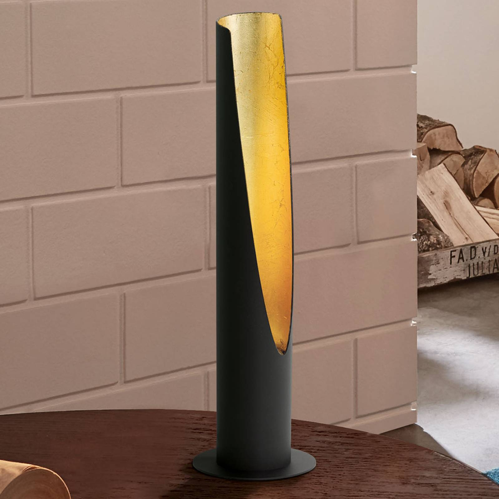 LED-pöytälamppu Barbotto musta/kulta