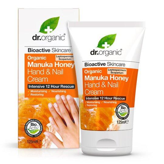 Dr. Organic Manuka Honey Hand & Nail Cream, 125 ml