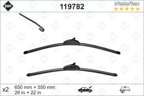 Flatblade set 650 + 550 mm
