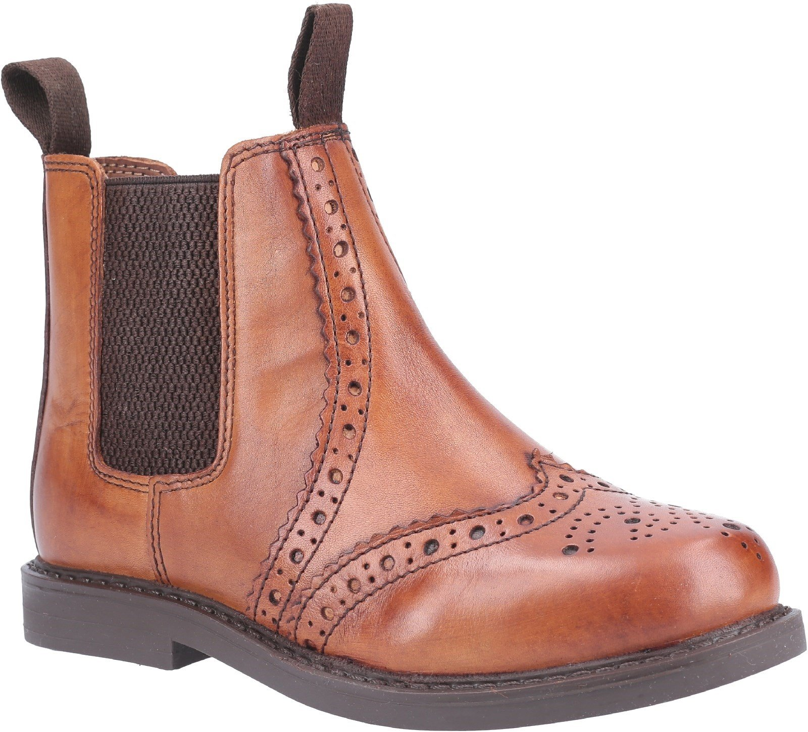 Cotswold Unisex Nympsfield Brogue Pull On Boots Multicolor 29270 - Tan 10