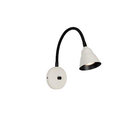 Relief Vegglampe Perlehvit/Matt svart GU10