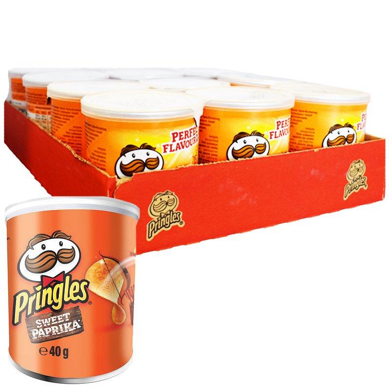 """Laatikollinen Perunalastuja """"Sweet Paprika"""" 12 x 40g - 33% alennus"""