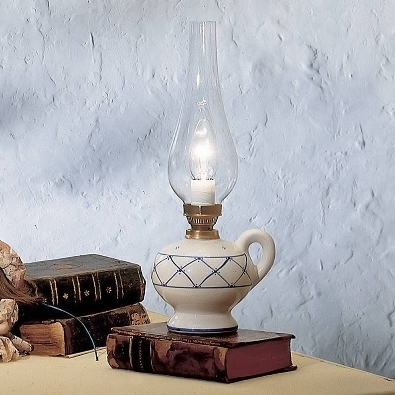 RUSTICO bordlampe landlig stil