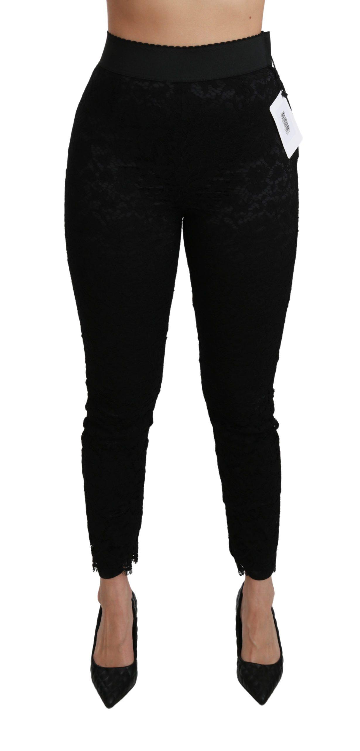 Dolce & Gabbana Women's Skinny High Waist Cotton Trouser Black PAN70895 - IT38|XS