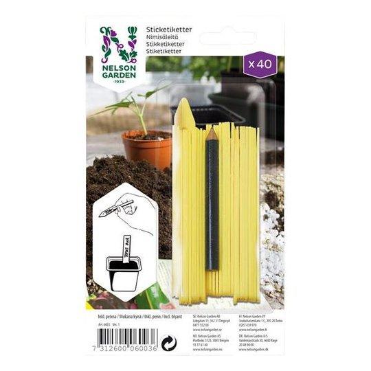 Nelson Garden 6003 Nimikyltti muovia, sis. kynän, 40 kpl