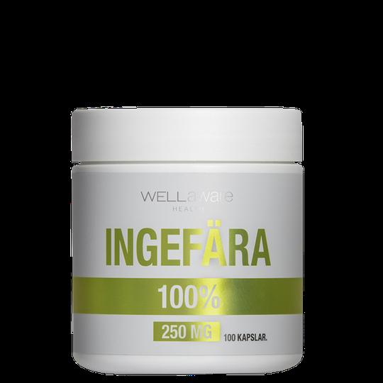 WellAware Ingefära 250 mg, 100 kapslar