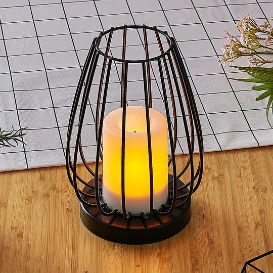Aurinkokäyttöinen LED-lamppu Hannika, meripihka