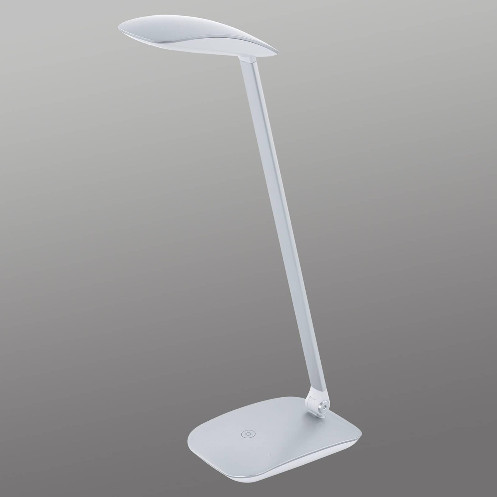 Hopeinen Cajero LED-kirjoituspyötävalaisin, himm.