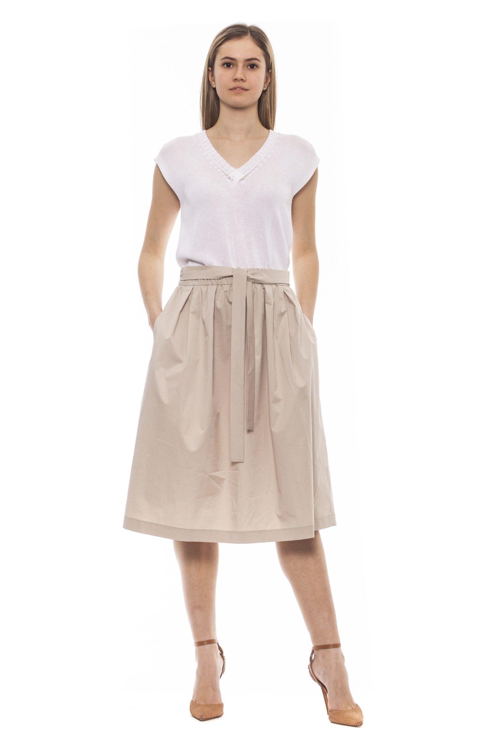 Peserico Women's Bianco Dress White PE1383297 - IT42 | S