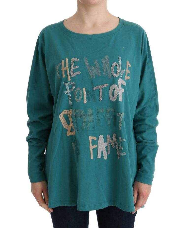 John Galliano Women's Cotton Oversized Sweater Green TUI10023 - S