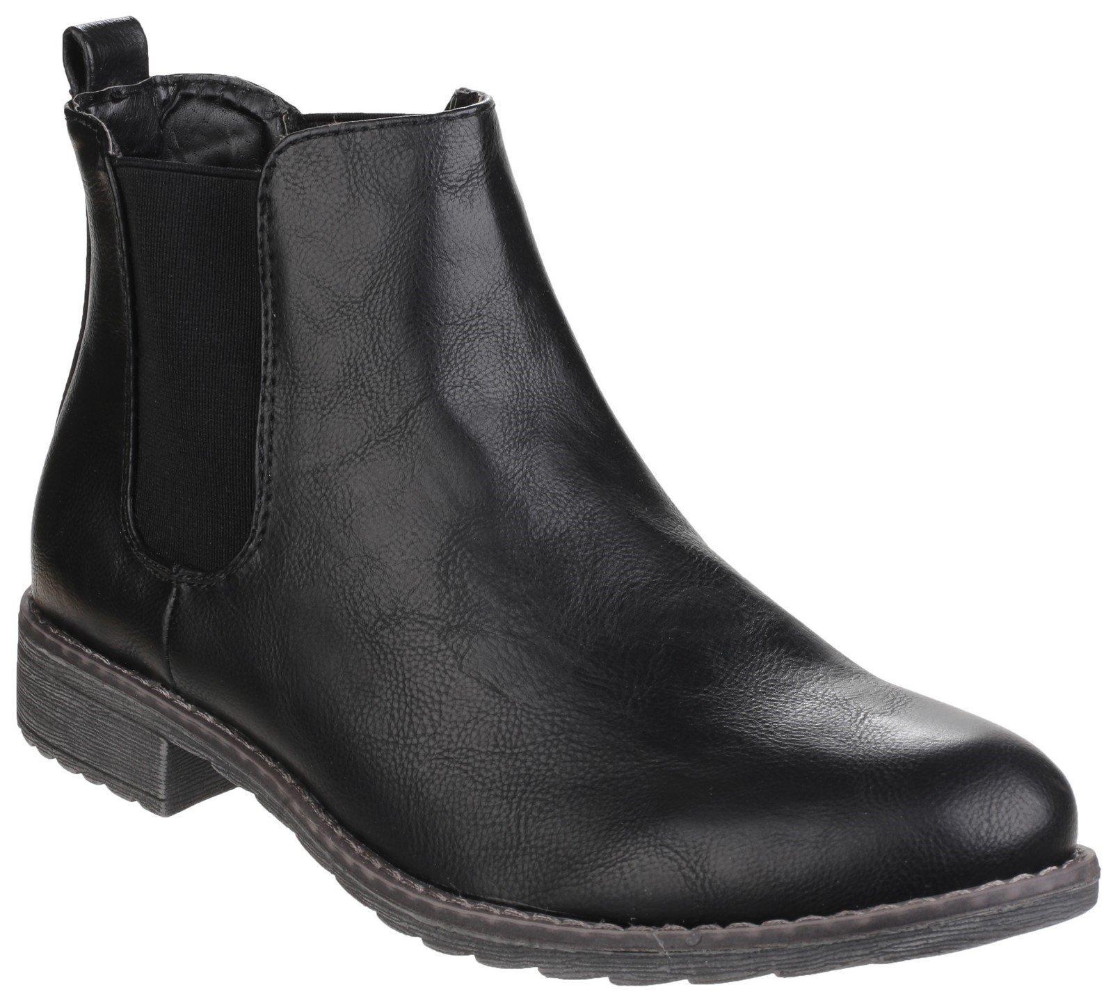 Divaz Women's Kelly Pull on Ankle Boot Black 24272-40022 - Black 3