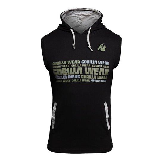 Melbourne S/L Hooded T-Shirt, Black