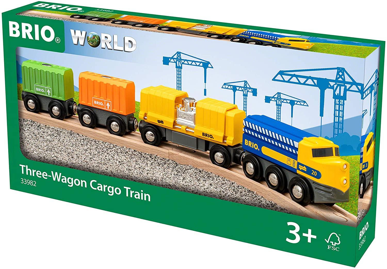 BRIO - Three-Wagon Cargo Train (33982)