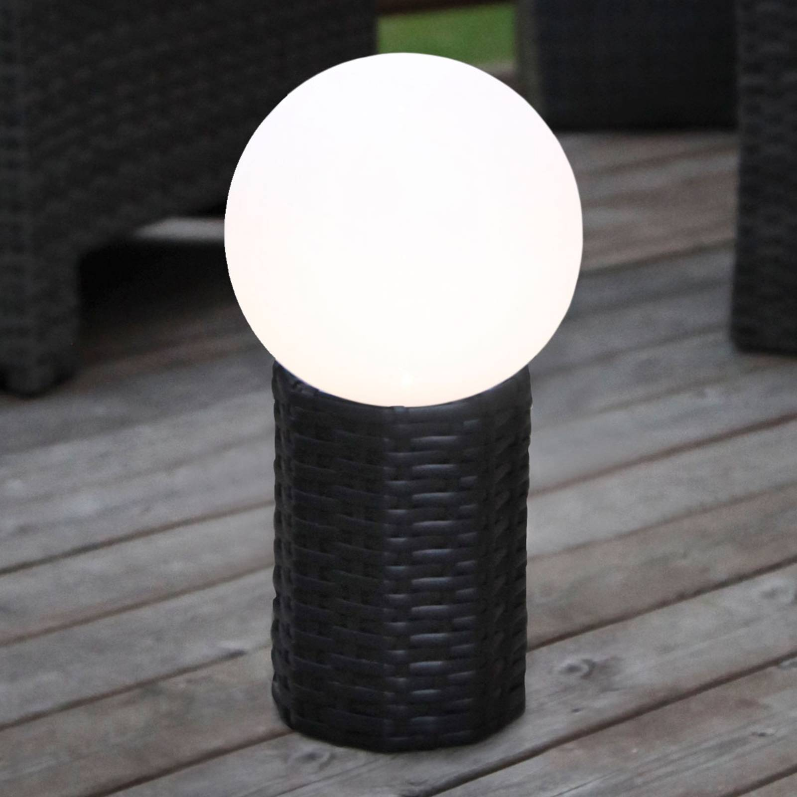 Jalallinen LED-aurinkokennopallo Lug, Ø 20 cm