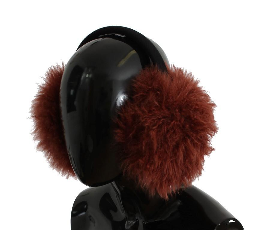 Dolce & Gabbana Women's Shearling Alpaga Wool Ear Muffs Red SIG31613