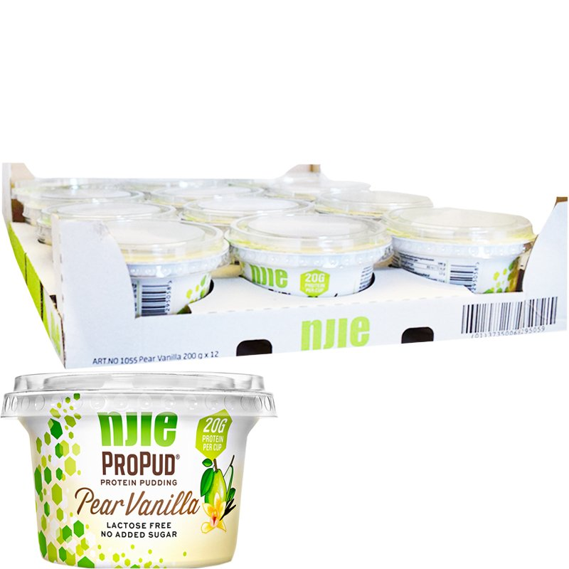 Proteiinivanukkaat Päärynä & Vanilja 12kpl - 56% alennus