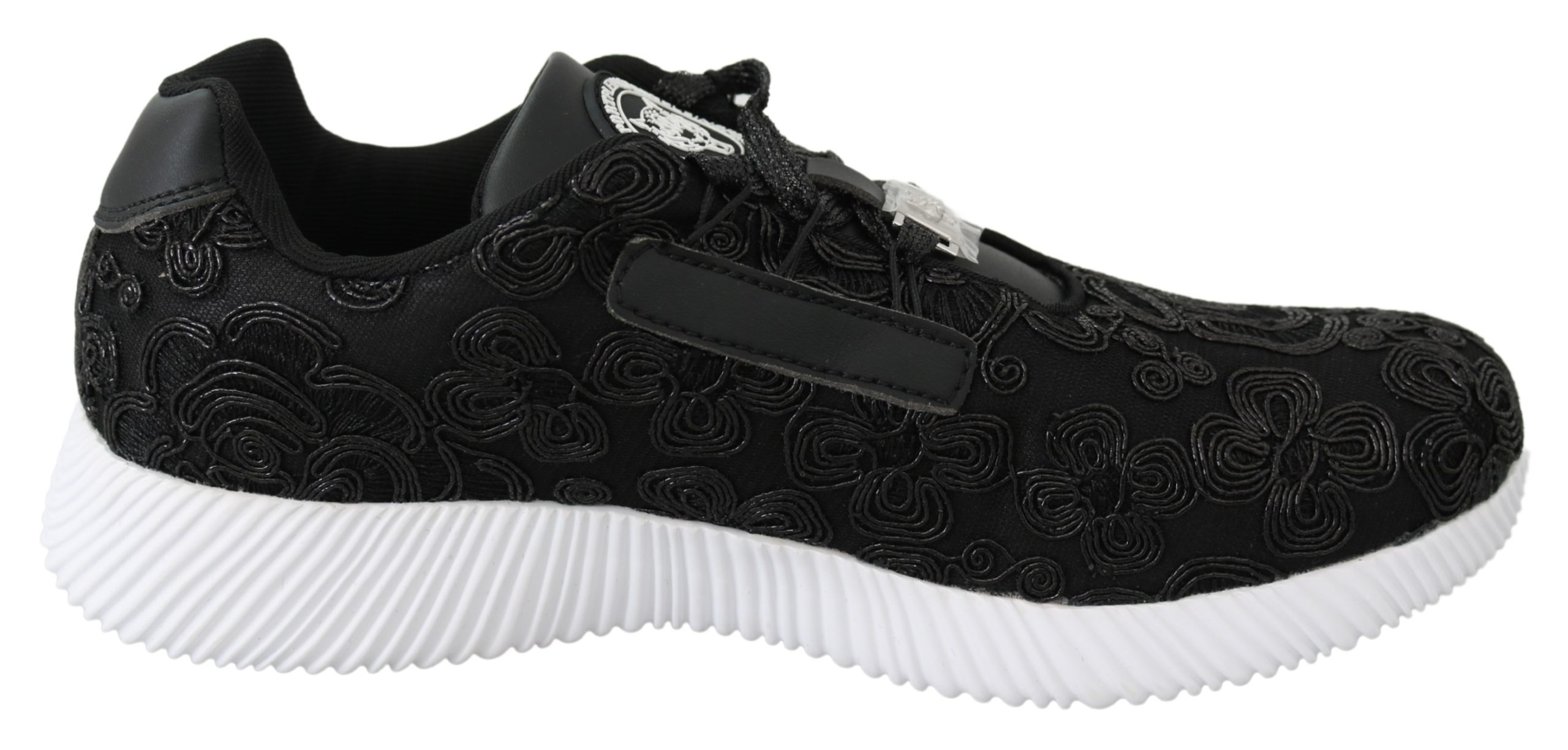 Black Polyester Runner Joice Sneakers Shoes - EU39/US9