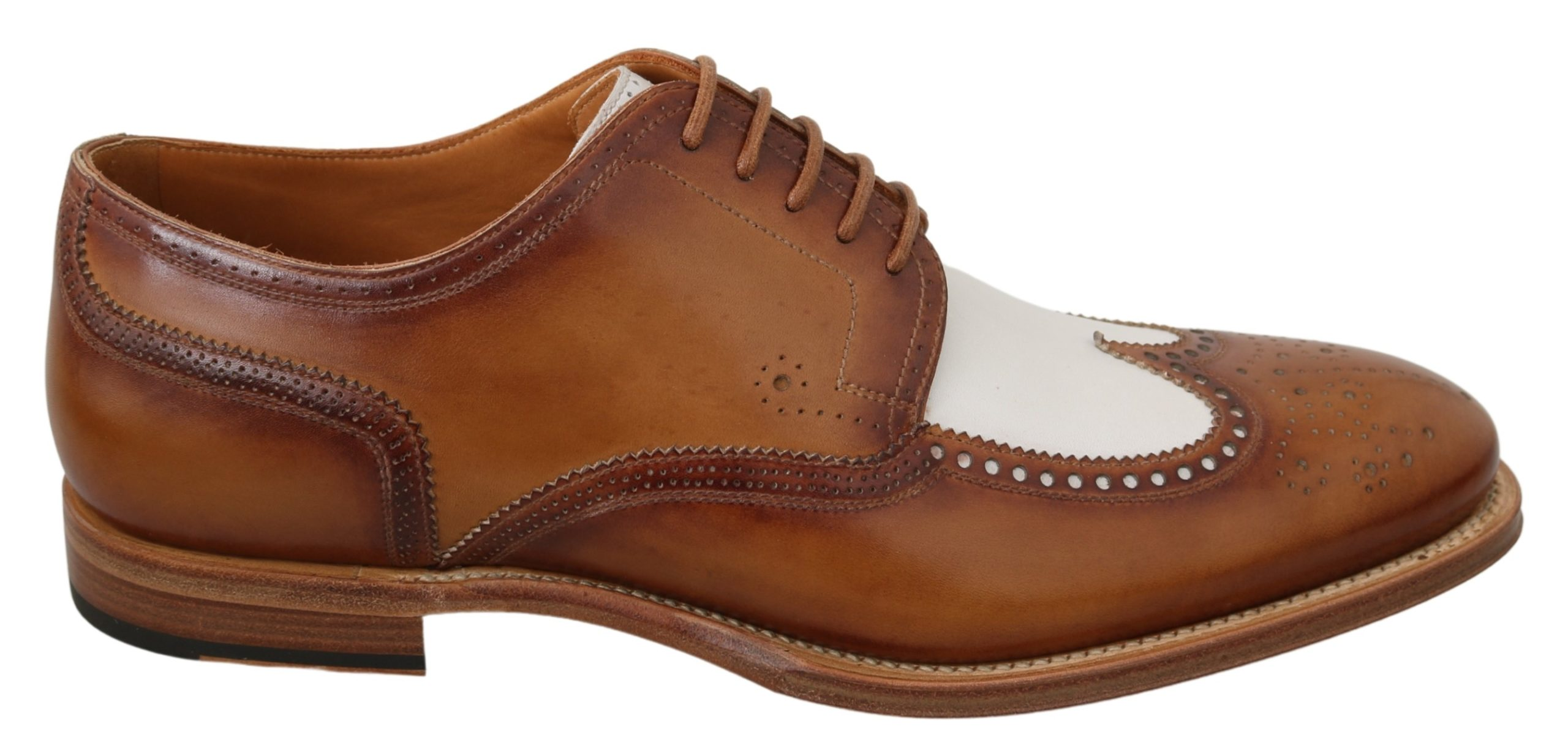 Dolce & Gabbana Men's Leather Brogue Shoe Brown MV2883 - EU44/US11