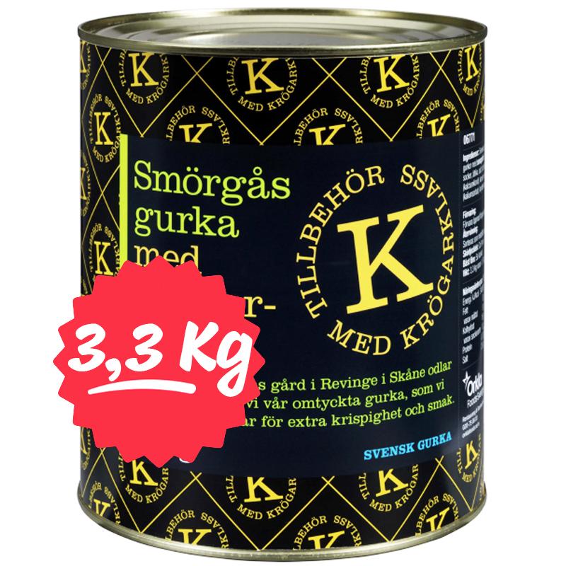 Smörgåsgurka Inlagd 3,3kg - 64% rabatt