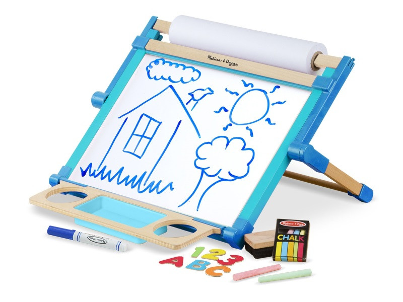 Melissa & Doug - Wooden Double-Sided Tabletop Easel (12790)