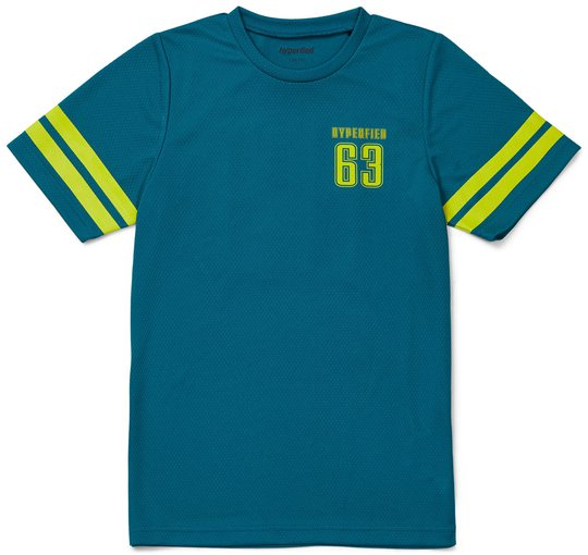 Hyperfied Back Logo T-Shirt, Harbor Blue 86-92