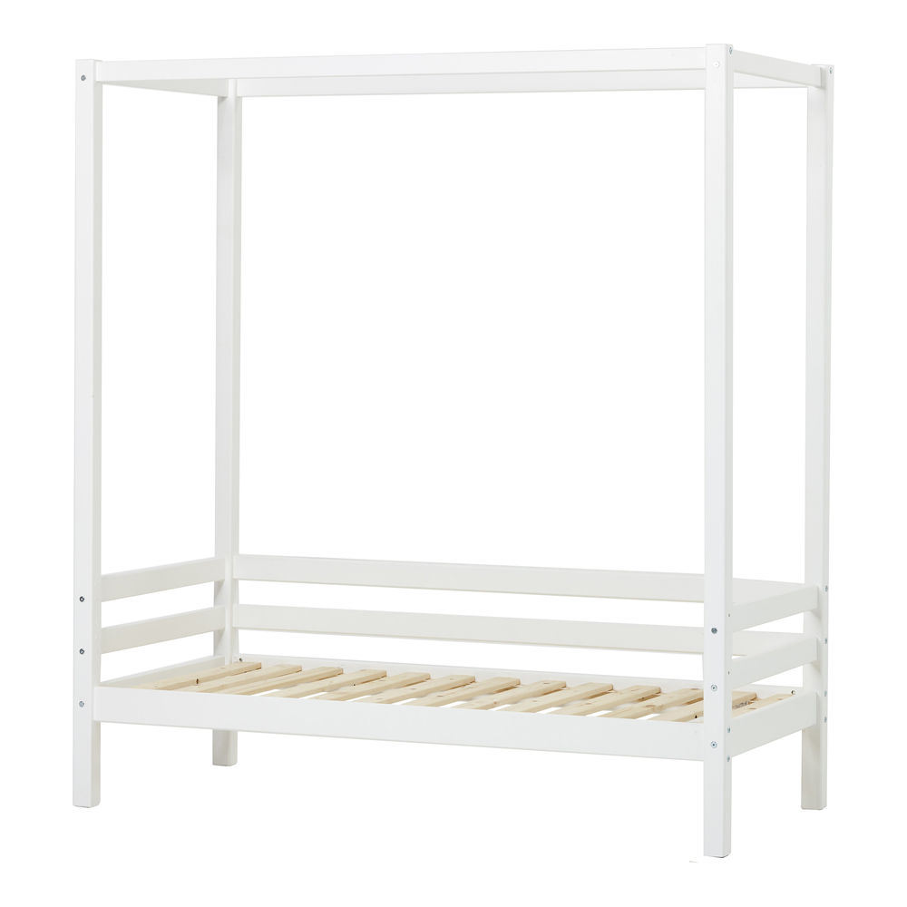 Hoppekids - Sofabed with canopy bed 90x200 cm - White