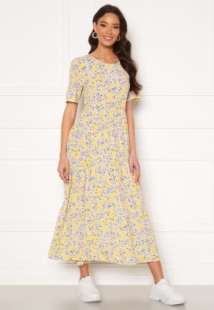 ONLY Amalie Life SS Midi Dress Mellow Yellow/Flower S