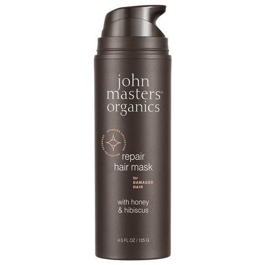 John Masters Organics Repair Hair Mask for Damaged Hair with Honey & Hibiscus, 125 g