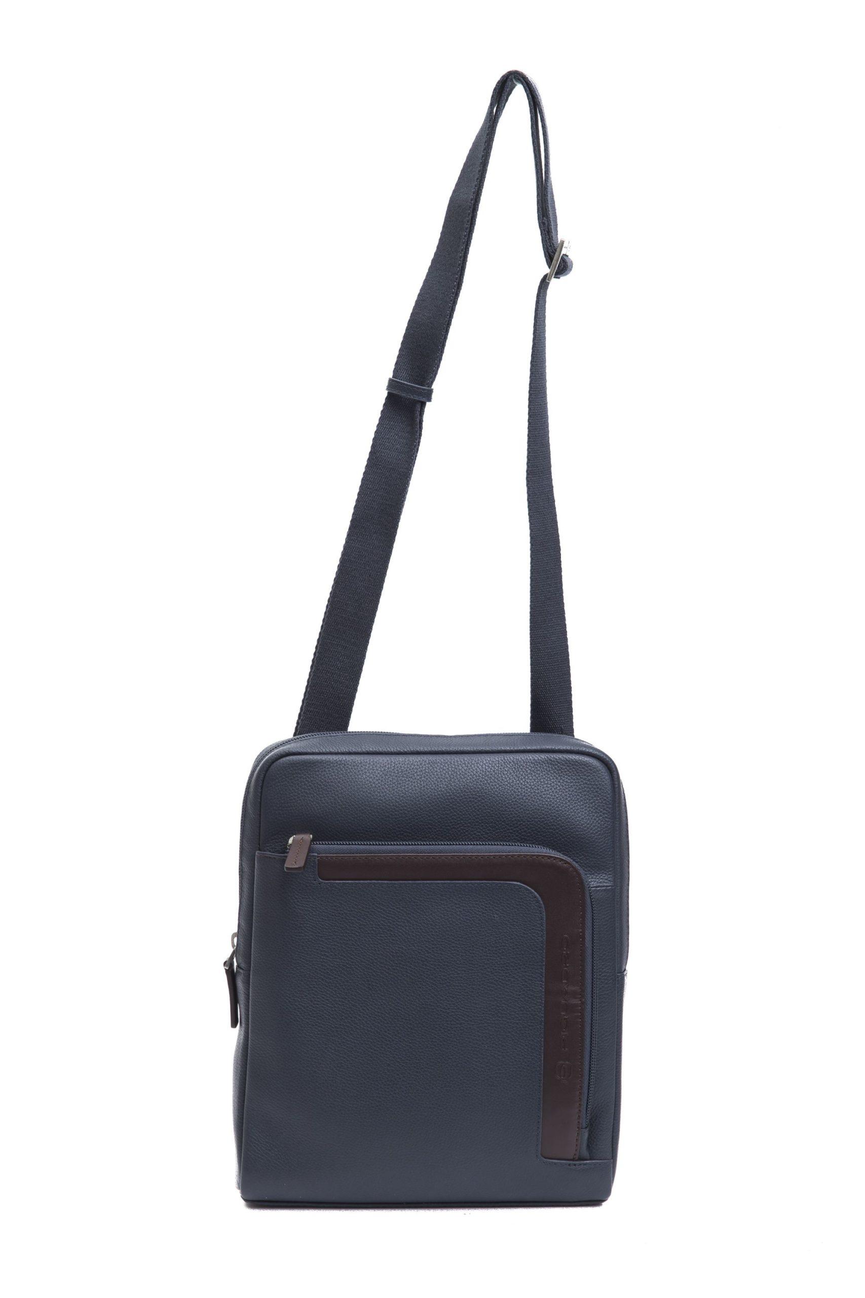 Piquadro Men's Shoulder Bag Blue PI1270737