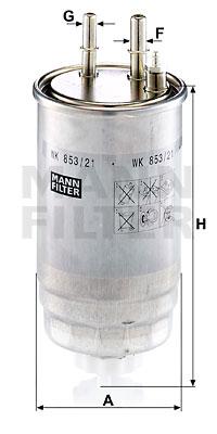 Polttoainesuodatin MANN-FILTER WK 853/21