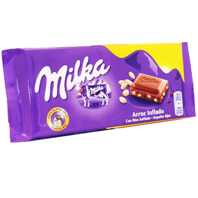 """Mjölkchoklad """"Krispigt Ris"""" 100g - 23% rabatt"""