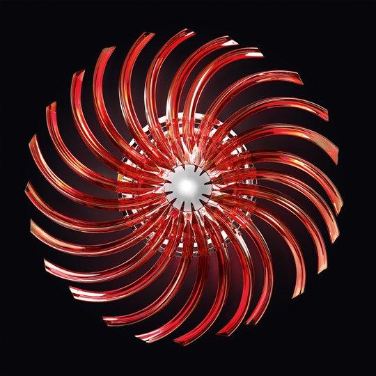 Punainen kattovalaisin Rondo Muranon lasista