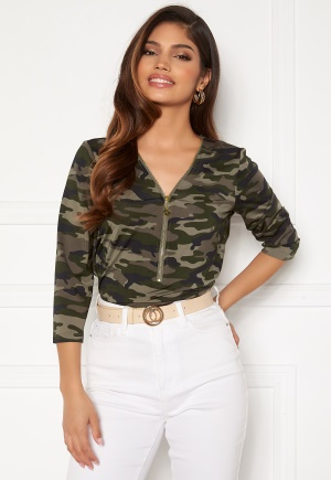 Happy Holly Marion top Camouflage 32/34