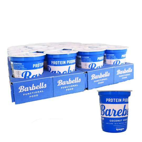 "Hel Platta Proteinpudding ""Coconut"" 20 x 200 g - 68% rabatt"